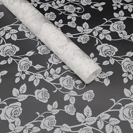 Cellophane Sheets (50pk) 50x70cm - White Rose