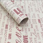 Newspaper Kraft Sheets 500x700mm (50pcs) - Love Red Print 70gsm