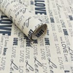 Newspaper Kraft Sheets 500x700mm (50pcs) - Love Black Print 70gsm