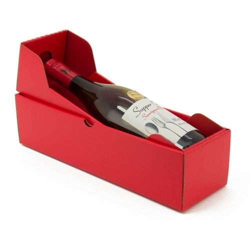 Single lid+base wine box
