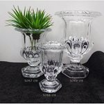 Small Glass Urn  - 11cmdiax15cmH