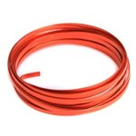 Flat Aluminium Wire - Orange 6mmx4.5m