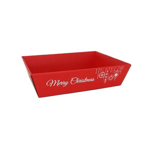 Rectangular Tray Christmas Red - 220bx170wx60mmh