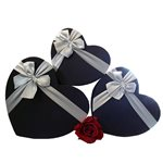 Heart Boxes Black set of 3