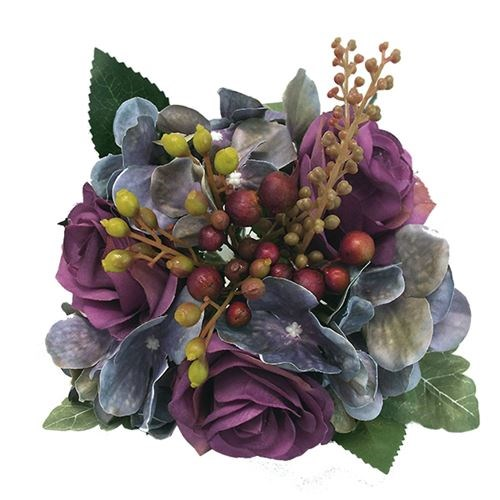 Mixed Posy - Purple 26cm