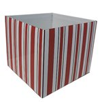 Posy Box - Red Stripe 130x110mmH