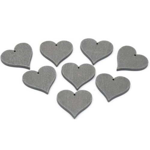 Wooden Heart With Hole (8 pk)
