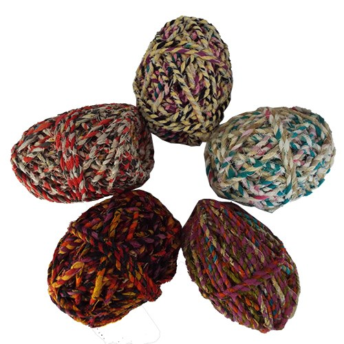 Recycled Sari Twine  Asst. Colours 25m