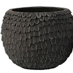 Black Cement Pot Lge 31.5x31.5x24.5cm
