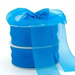 Edged Organza - 38mm x 50m - Turquoise
