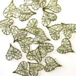 Wire Hearts 20pk - Olive 35mmD